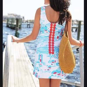 NWT Lilly Pulitzer delia shift dress lighthouse